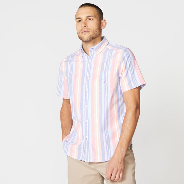 CLASSIC FIT MULTI-STRIPE OXFORD SHIRT - Windsurf Blue