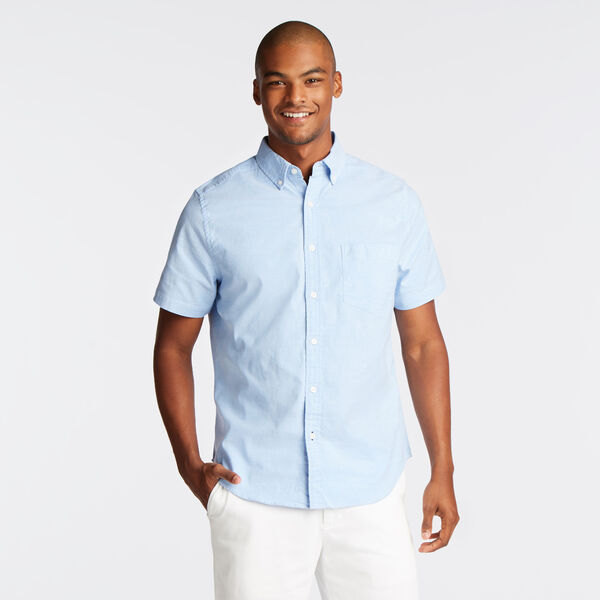 CLASSIC FIT STRETCH SHORT SLEEVE OXFORD SHIRT - Aquasplash