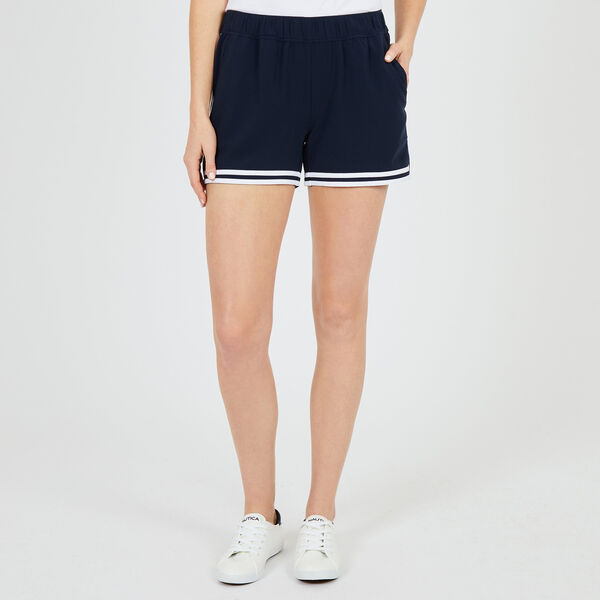 Track Shorts With Contrast Trim - Deep Sea