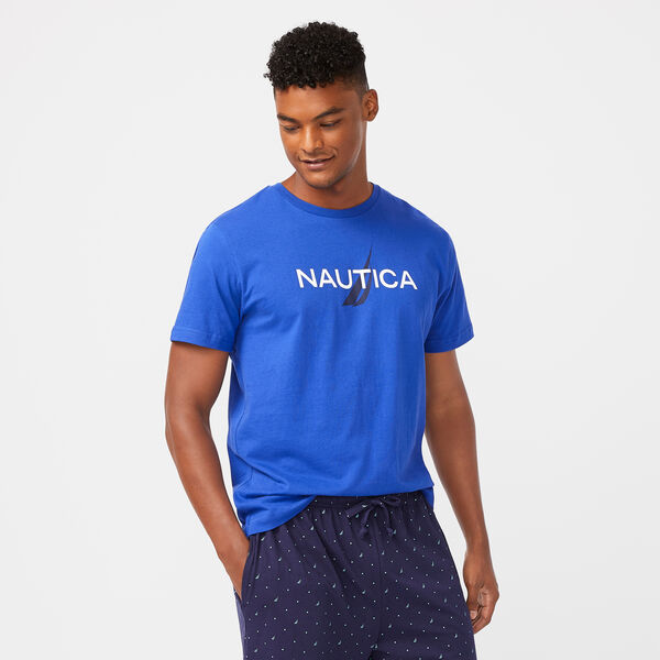LOGO GRAPHIC SLEEP T-SHIRT - Bright Cobalt