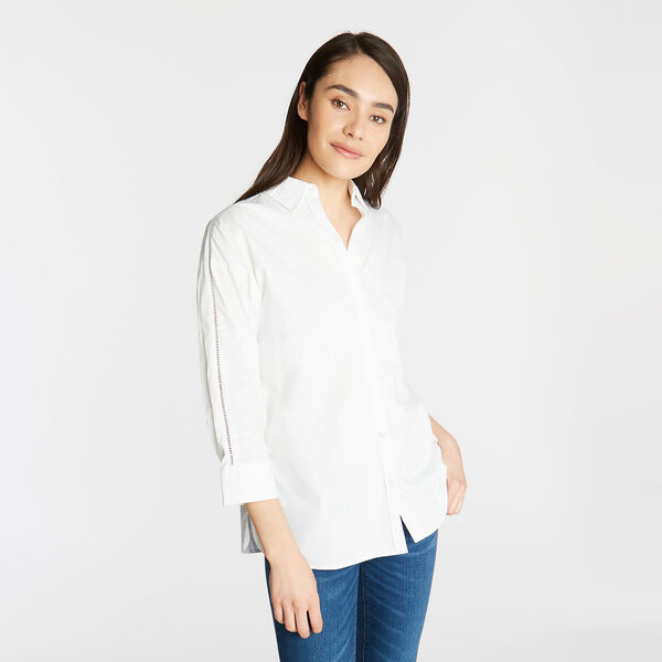 Classic Fit Poplin Tunic Shirt - Bright White