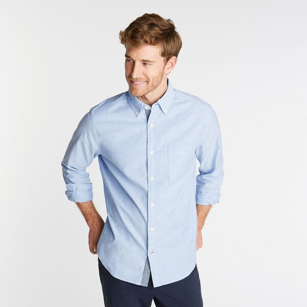The Hitch Big & Tall Anchor Solid Oxford Classic Fit Button Down - Rolling River Wash