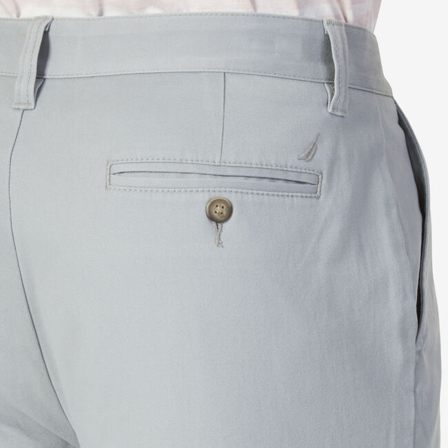 Classic Fit Stretch Twill Deck Pant,Bay Grey,large