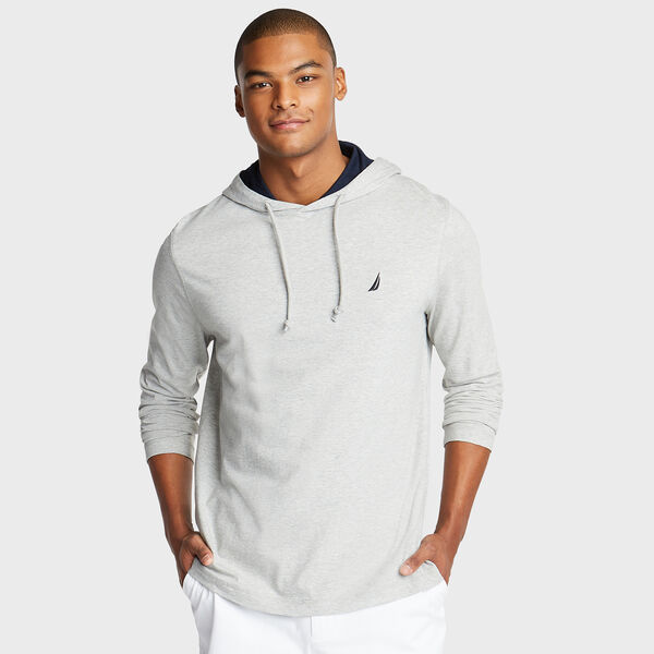 CLASSIC JERSEY HOODIE - Grey Heather