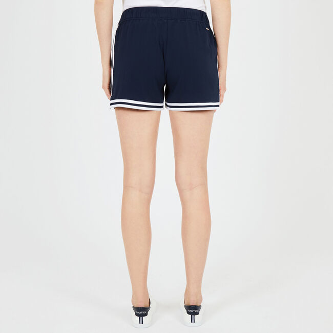 Track Shorts With Contrast Trim,Stellar Blue Heather,large