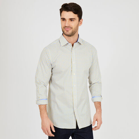 Long Sleeve Classic Fit Multi-Check Shirt - Sunfish