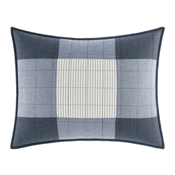 Bartow King Pillow Sham in Navy - Pure Dark Pacific Wash