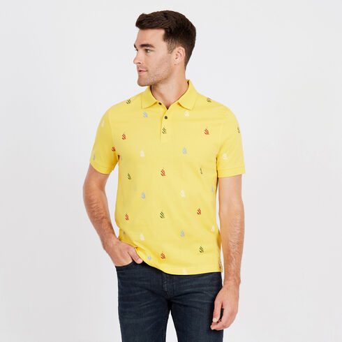 Spinnaker Short Sleeve Classic Fit Polo - Knot Yellow