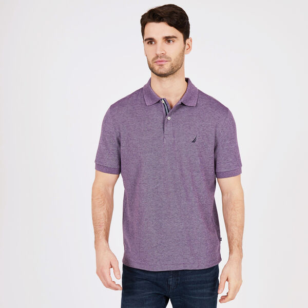 Big & Tall Short Sleeve Classic Fit Stretch Deck Polo - Majestic Purple
