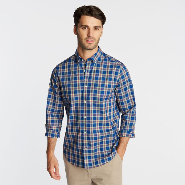 BIG & TALL WRINKLE RESISTANT SHIRT IN YARN DYED PLAID - Limoges