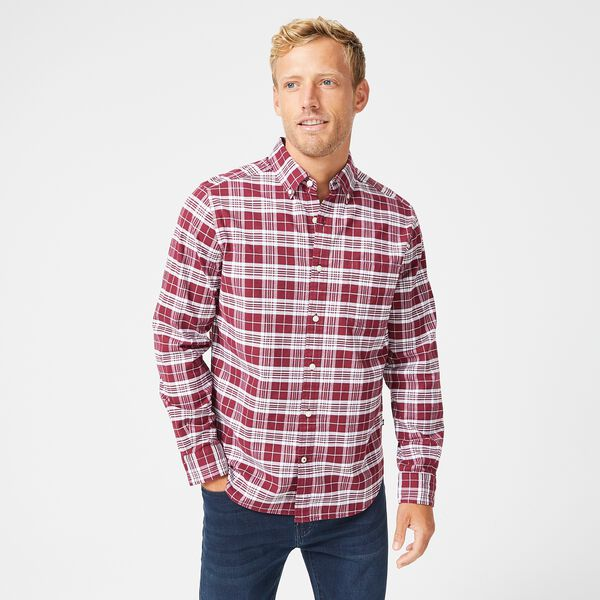 CLASSIC FIT PLAID OXFORD SHIRT - Zinfandel