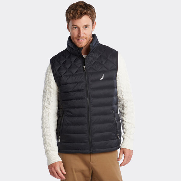LIGHTWEIGHT QUILTED VEST WITH TEMPASPHERE - True Black
