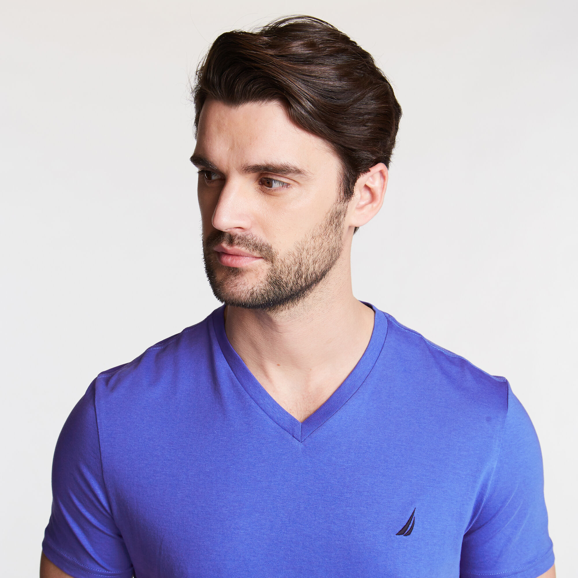 Nautica-Mens-V-Neck-Short-Sleeve-T-Shirt thumbnail 7
