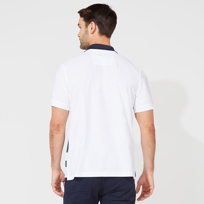 CLASSIC FIT PERFORMANCE NAVTECH STRIPE POLO,Bright White,large