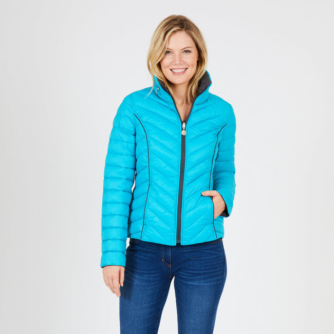 Reversible Packable Puffer Jacket,Compass Blue,large