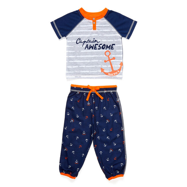 Toddler Boys' Captain Awesome PJ Pants Set (2T-4T),Ice Blue,large