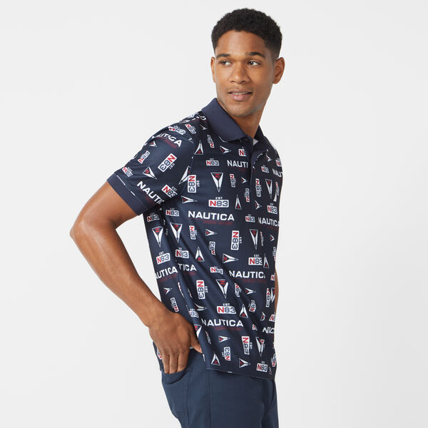 CLASSIC FIT NAVTECH PRINTED POLO - Navy