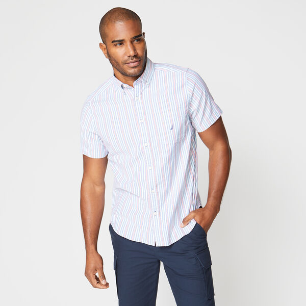 CLASSIC FIT STRIPE OXFORD SHIRT - Windsurf Blue