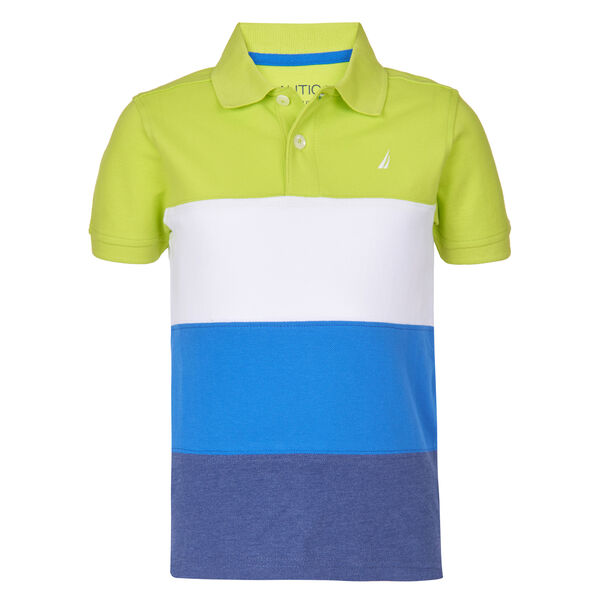 TODDLER BOYS' BRICKELL PIECED STRIPE POLO  (2T - 4T) - Tillman Bay
