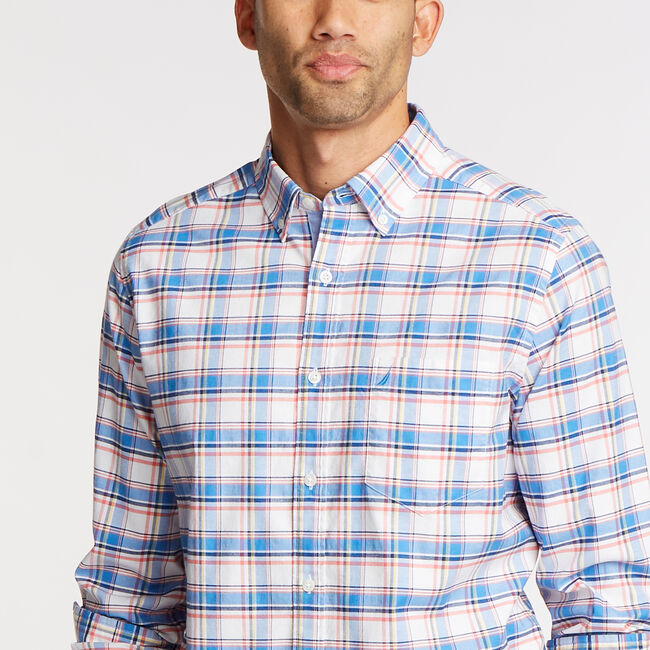 Long Sleeve Classic Fit Oxford Shirt,Clear Sky Blue,large