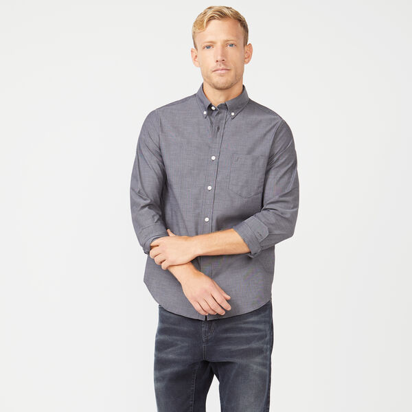 SLIM FIT WRINKLE RESISTANT SHIRT IN SOLID - True Black