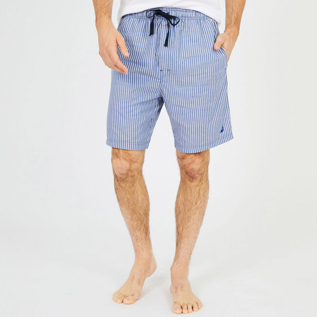 Striped Woven Pajama Shorts,Monaco Blue,large