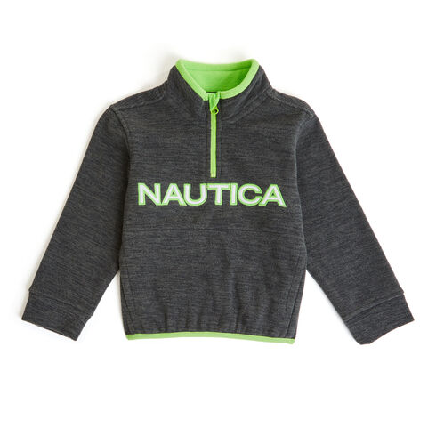 Little Boys' Nautica Quarter-Zip Nautex Hoodie (4-7) - Lilac