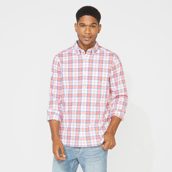 CLASSIC FIT LONG SLEEVE PLAID SHIRT - Coral Dream