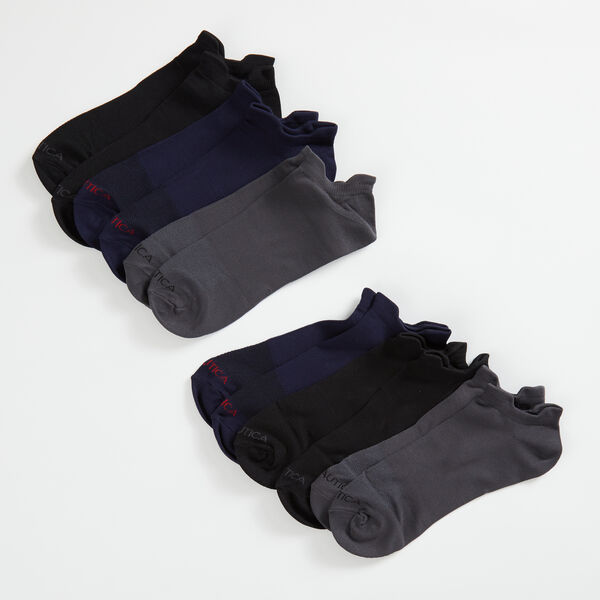 LOGO ATHLETIC SOCKS, 6-PACK - Black
