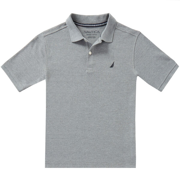 Toddler Boys' Heathered Polo Shirt (2T-3T) - Gunmetal Grey