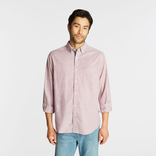 BIG & TALL CLASSIC FIT STRETCH OXFORD SHIRT - Barolo