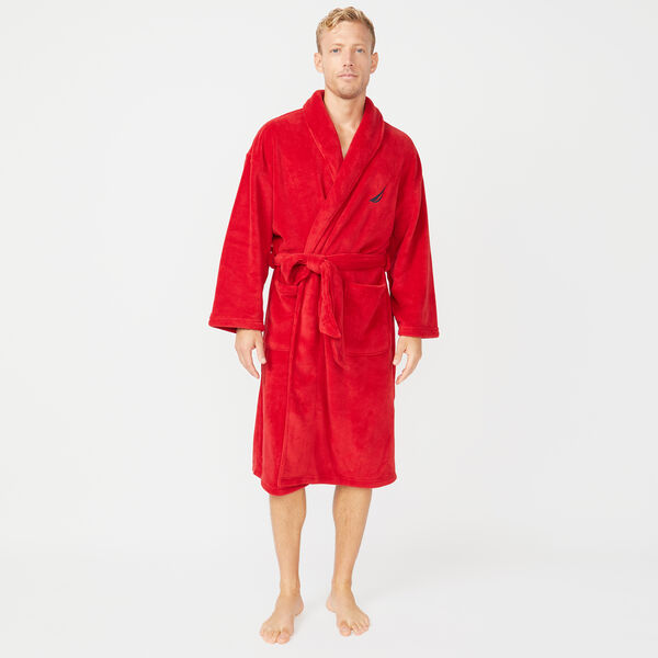SOLID SHAWL COLLAR ROBE - Nautica Red