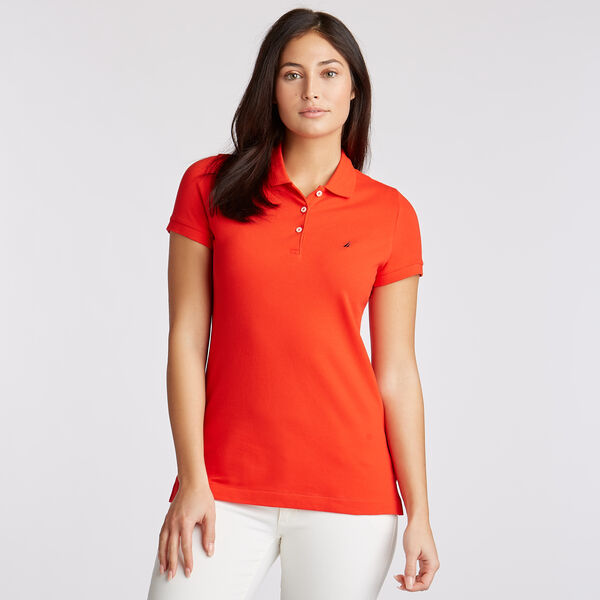 Short Sleeve Classic Fit Anchor Polo - Firey Red