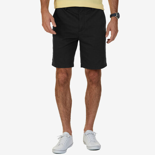 Big & Tall Flat Front Classic Fit Shorts - True Black