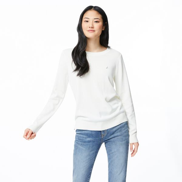 CLASSIC FIT CREW NECK SWEATER - Marshmallow