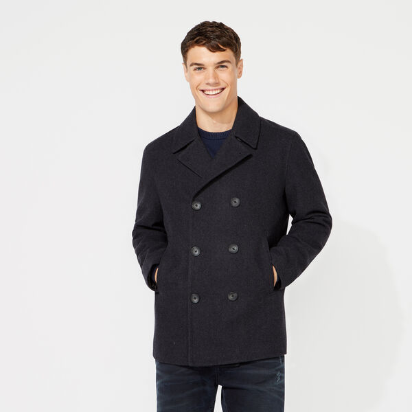 BIG & TALL WATER REPELLENT PEACOAT - Pale Blue