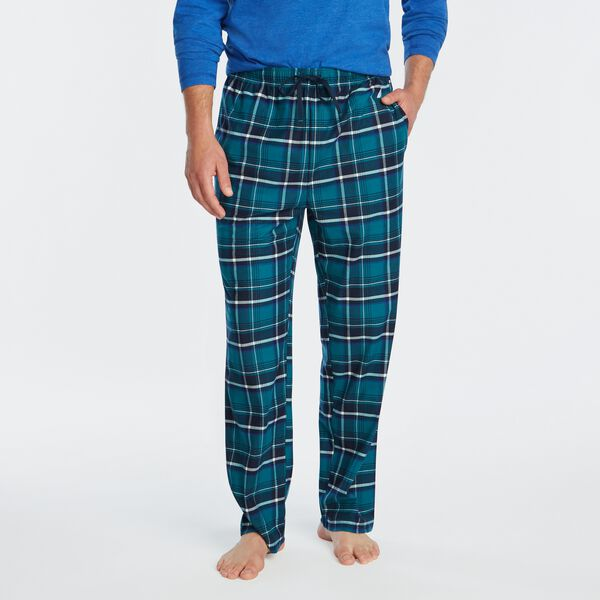 PLAID FLEECE SLEEP PANT - Shaded Spruce
