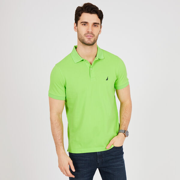 SLIM FIT MESH POLO - Lime Surf