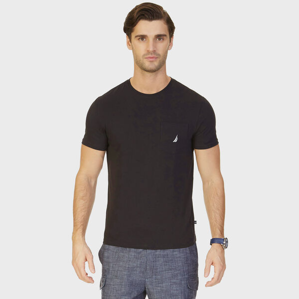 Big & Tall Active Stretch Pocket T-Shirt - True Black