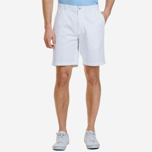 Big & Tall Flat Front Classic Fit Shorts - Bright White