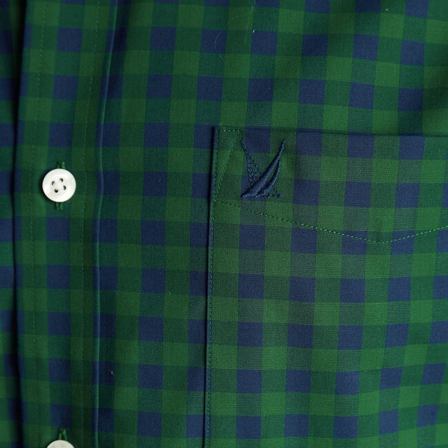 CLASSIC FIT WRINKLE-RESISTANT GINGHAM SHIRT,Spruce,large