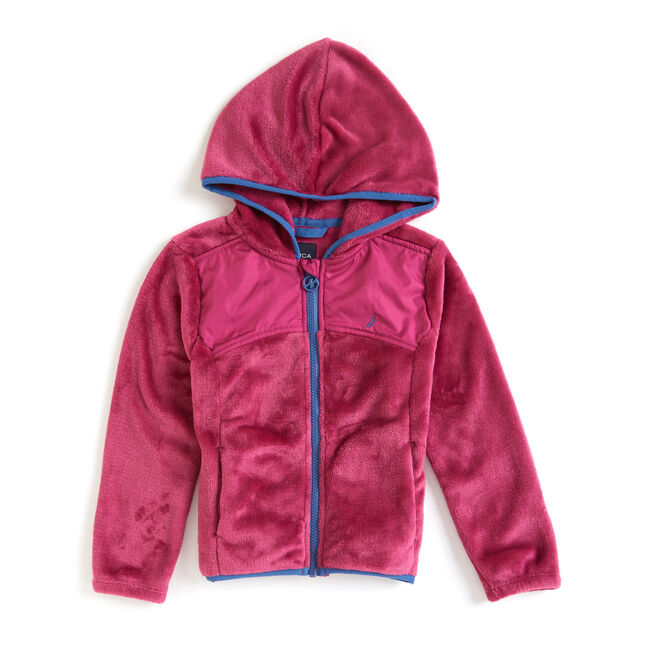 Toddler Girls' Micro Fleece Nautex Full-Zip Hoodie (2T-4T),Blue Depths,large