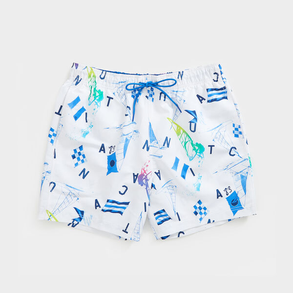 "6"" NEON WINDSURFING PRINT SWIM - Bright White"