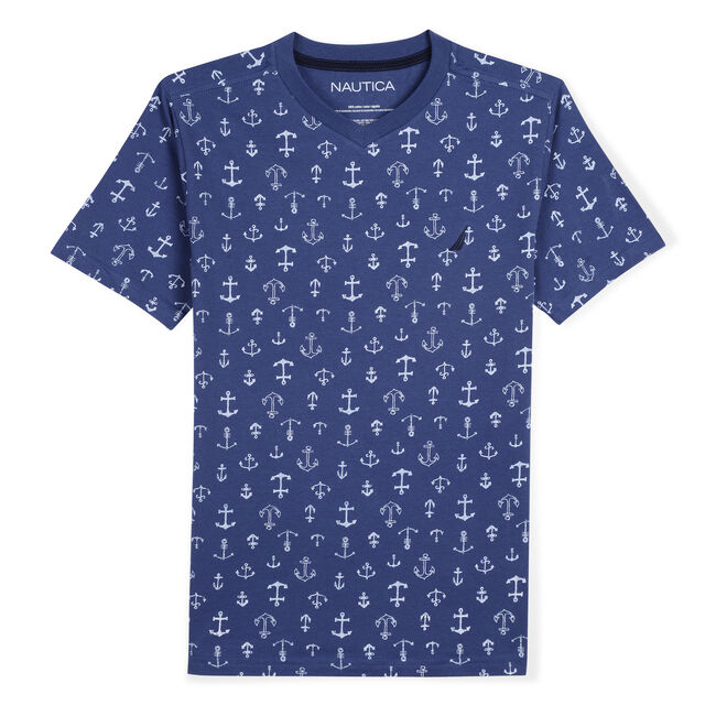fec7565e6 Toddler Boys' Phil T-Shirt in Anchor Print (2T-4T) | Nautica