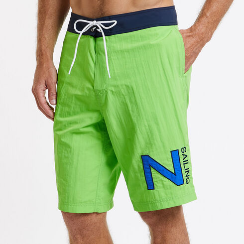Contrast Waistband Board Short - Dark Green