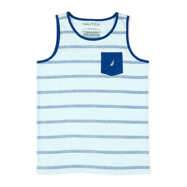 Little Boys' Sierra Striped Tank (4-7),Blue Mirage,large