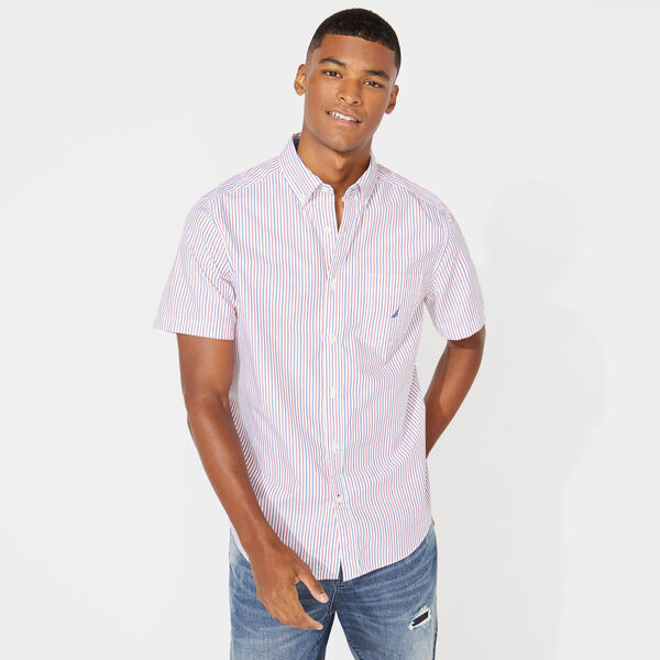 CLASSIC FIT STRIPED OXFORD SHIRT - Bright White