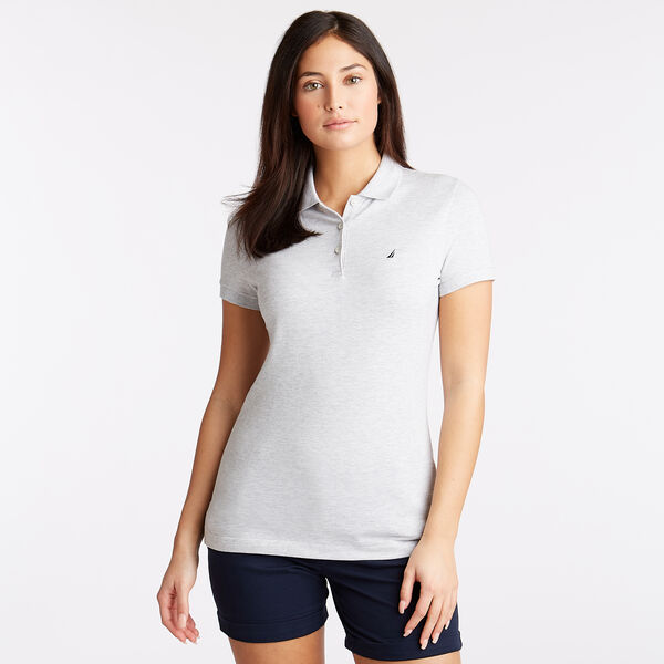 Short Sleeve Classic Fit Anchor Polo - Pale Blue