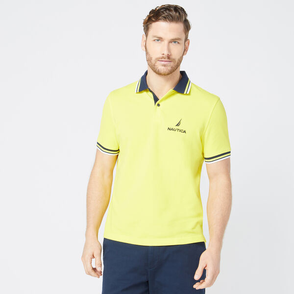 CLASSIC FIT LOGO POLO - Blazing Yellow
