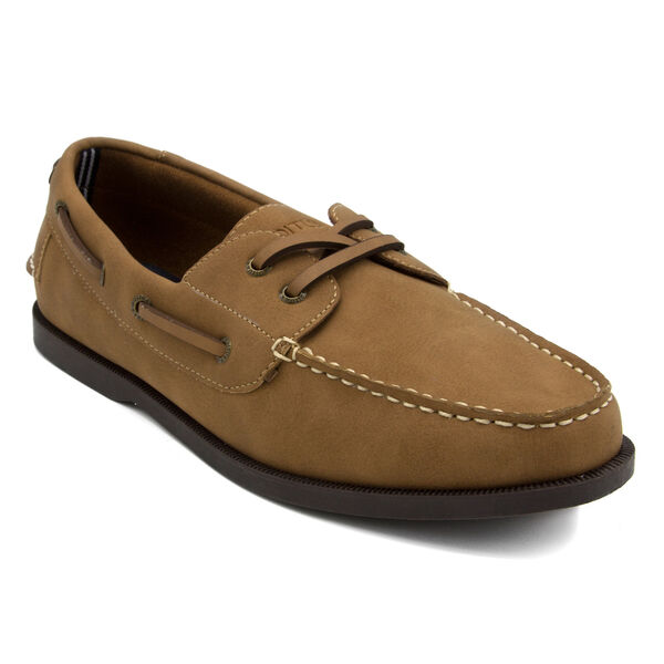 Nueltin Suede Boat Shoes - Brown Stone